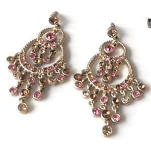 🌺3/$20 3PC Earring Lot Red, Pink and Black